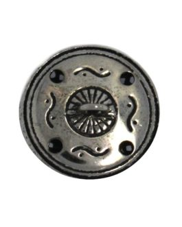 Bouton nickel filigrané