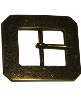Dam Boutons boucle  rectangle bronze Réf 186